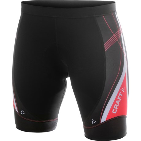 Craft Sportswear High-Performance Bike Tour Shorts (For Women) in Black/Cheer