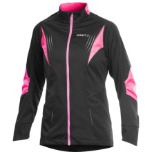Craft Sportswear High-Performance Cross-Country Jacket (For Women) in Black/Metro - Closeouts