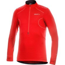 Craft Sportswear High-Performance Cycling Jersey - Zip Neck, Long Sleeve (For Men) in Bright Red - Closeouts