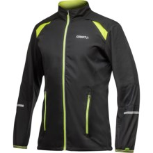 Craft Sportswear High-Performance Run Jacket (For Men) in Black/Scream - Closeouts