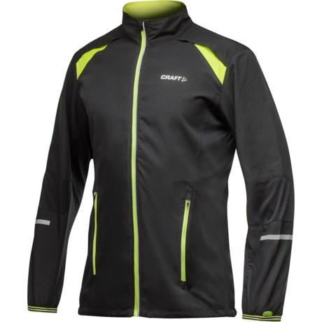 Craft Sportswear High-Performance Run Jacket (For Men) in Scream/Black/White