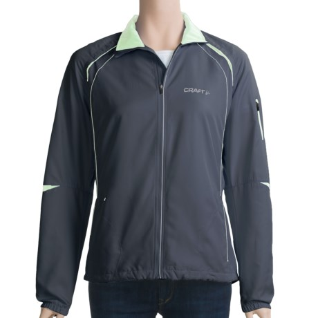 Craft Sportswear High-Performance Run Jacket (For Women) in Pipeline
