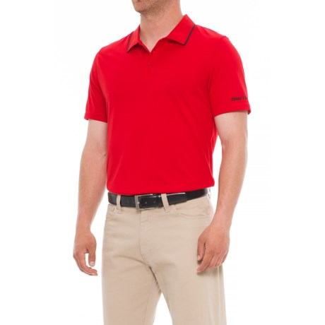 Craft Sportswear In the Zone Pique Golf Polo Shirt (For Men) in Red