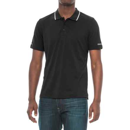 Craft Sportswear In the Zone Polo Shirt - Short Sleeve (For Men) in Black - Closeouts