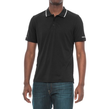 Craft Sportswear In the Zone Polo Shirt - Short Sleeve (For Men) in Black