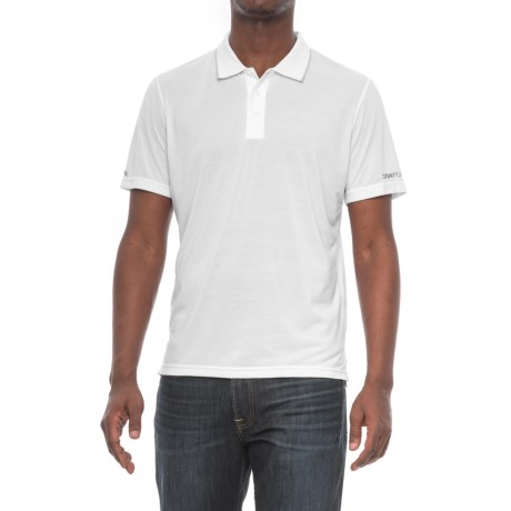 Craft Sportswear In the Zone Polo Shirt - Short Sleeve (For Men) in White