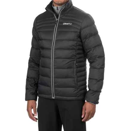 Craft Sportswear Light Down Jacket - Insulated (For Men) in Black/Platinum - Closeouts
