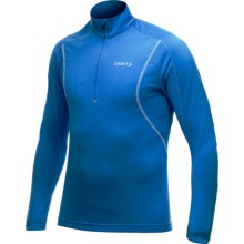 Craft Sportswear Lightweight Stretch Pullover Shirt - Zip Neck, Long Sleeve (For Men) in Swedish Blue - Closeouts
