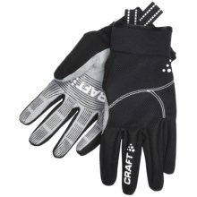 Craft Sportswear Performance Fleece Gloves (For Men and Women) in Black - Closeouts