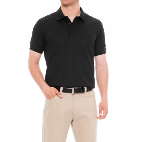 Craft Sportswear Pique Golf Polo Shirt (For Men) in Black