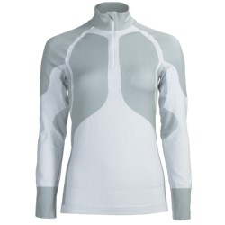 Craft Sportswear Pro Warm Base Layer Top - Lightweight, Zip Neck, Long Sleeve (For Women) in White