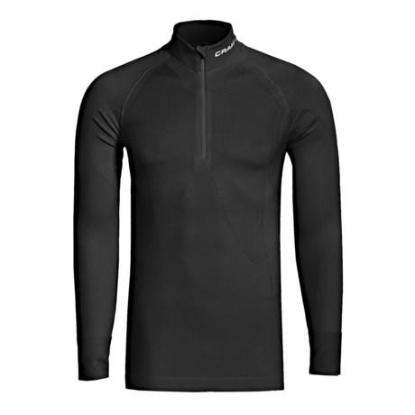 Craft Sportswear Pro Warm Base Layer Top - Zip Neck, Lightweight, Long Sleeve (For Men) in Black