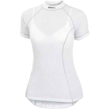 Craft Sportswear Pro Zero Base Layer Top - Short Sleeve (For Women) in White - Closeouts