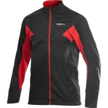 Craft Sportswear PXC Jacket - Windproof (For Men) in Black/Core Red - Closeouts