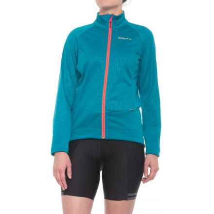 Craft Sportswear Rime Cycling Jacket (For Women) in Teal/Panic - Closeouts
