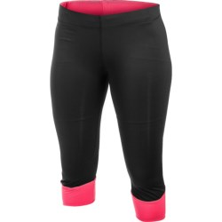 Craft Sportswear Run Capris - High Performance (For Women) in Black/Hibiscus