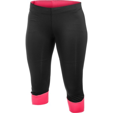Craft Sportswear Run Capris - High Performance (For Women) in Black/Hibiscus