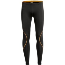 Craft Sportswear Run Tights (For Men) in Black/Carrot - Closeouts