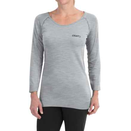 Craft Sportswear Seamless Touch Shirt - 3/4 Sleeve (For Women) in Grey - Closeouts