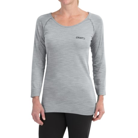 Craft Sportswear Seamless Touch Shirt - 3/4 Sleeve (For Women) in Grey