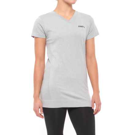 Craft Sportswear Seamless Touch T-Shirt - Short Sleeve (For Women) in Grey Melange - Closeouts