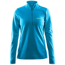 Craft Sportswear Swift Fleece Shirt - Zip Neck (For Women) in Brisk - Closeouts
