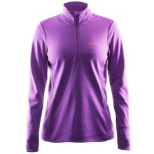 Craft Sportswear Swift Fleece Shirt - Zip Neck (For Women) in Lilac - Closeouts