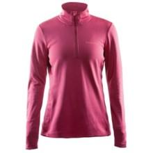 Craft Sportswear Swift Fleece Shirt - Zip Neck (For Women) in Ruby - Closeouts