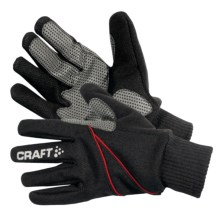 Craft Sportswear Tempest Gloves - Windproof (For Men and Women) in Black/Multi - Closeouts