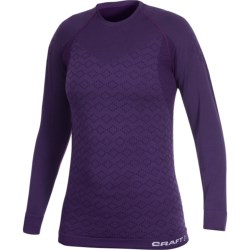 Craft Sportswear Warm CK Base Layer Top - Merino Wool, Long Sleeve (For Women) in Black/Titanium