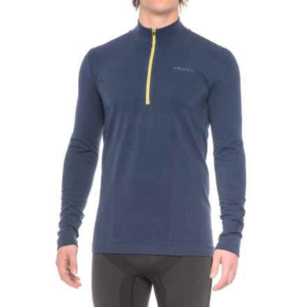 Craft Wool Comfort Zip Base Layer Shirt - Zip Neck, Long Sleeve (For Men) in Deep - Closeouts