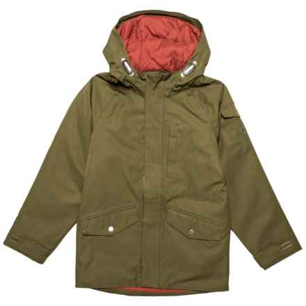 Craghoppers 250 Jacket - Waterproof, Insulated (For Little and Big Boys) in Dark Moss - Closeouts