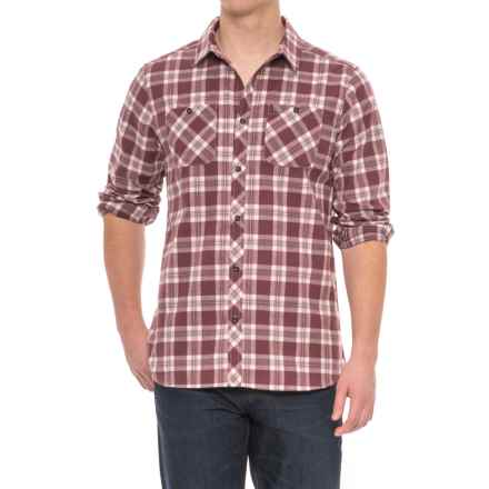 Craghoppers Andreas Checked Shirt - Long Sleeve (For Men) in Red Wine Combo - Closeouts
