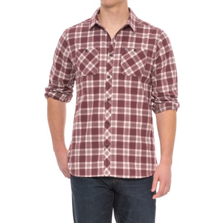 Craghoppers Andreas Checked Shirt - Long Sleeve (For Men) in Red Wine Combo