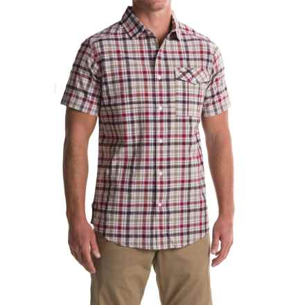 Craghoppers Avery Shirt - Short Sleeve (For Men) in Chesterfield Red - Closeouts