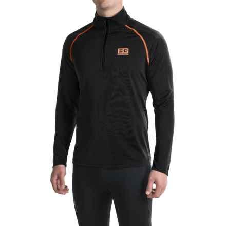 Craghoppers Bear Core Tech Shirt - Zip Neck, Long Sleeve (For Men) in Black Pepper/Black - Closeouts