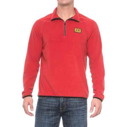 Craghoppers Bear Grylls Core Microfleece Shirt - Zip Neck, Long Sleeve (For Men) in Bear Red - Closeouts
