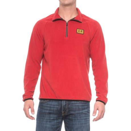 Craghoppers Bear Grylls Core Microfleece Shirt - Zip Neck, Long Sleeve (For Men) in Bear Red