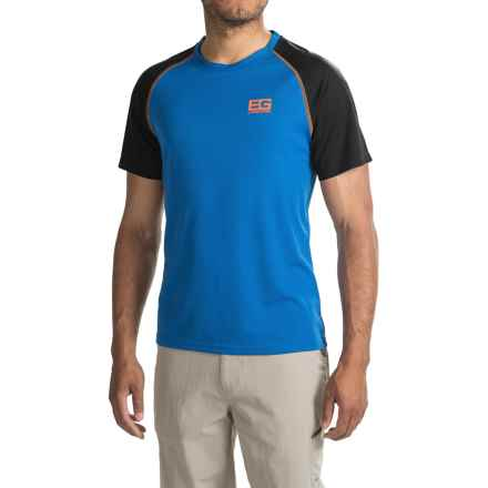 Craghoppers Bear Grylls Core Tech Shirt - Crew Neck, Short Sleeve (For Men) in Extra Blue/Black - Closeouts