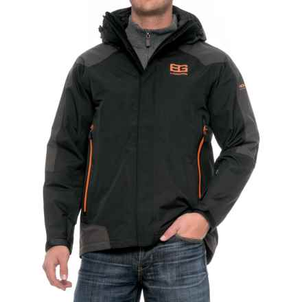 Craghoppers Bear Grylls Mountain Jacket - Waterproof (For Men) in Black/Black Pepper - Closeouts