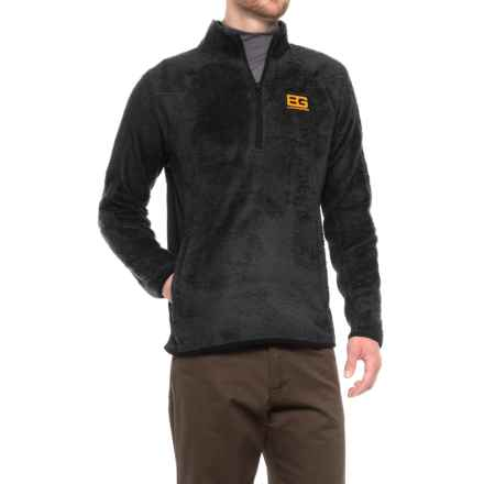 Craghoppers Bear Grylls Polar Fleece Jacket - Zip Neck (For Men) in Black/Black - Closeouts