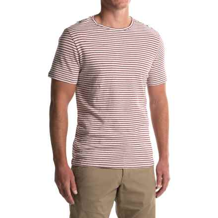 Craghoppers Bernard T-Shirt - Cotton-Linen, Short Sleeve (For Men) in Brick Red - Closeouts
