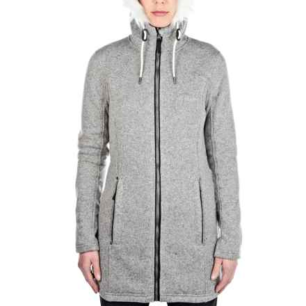 Craghoppers Bingley Hooded Fleece Jacket (For Women) in Quarry Grey Marl - Closeouts