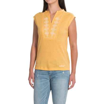 Craghoppers Brigitte Shirt - Short Sleeve (For Women) in Light Summer Gold - Closeouts