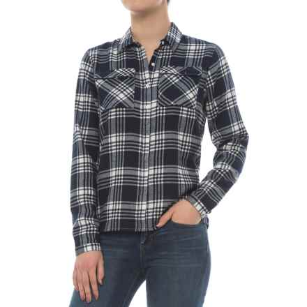 Craghoppers Carolina Flannel Shirt - Long Sleeve (For Women) in Night Blue Combo - Closeouts