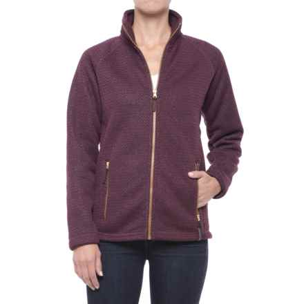 Craghoppers Cayton Fleece Jacket - Full Zip (For Women) in Dark Rioja Red Marl - Closeouts