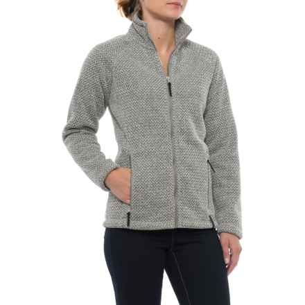 Craghoppers Cayton Fleece Jacket - Full Zip (For Women) in Quarry Grey Marl - Closeouts