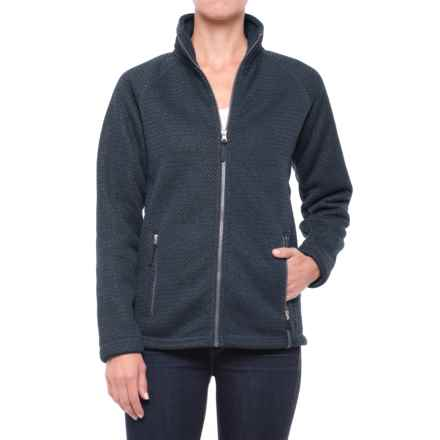 Craghoppers Cayton Fleece Jacket - Full Zip (For Women) in Soft Navy Marl - Closeouts