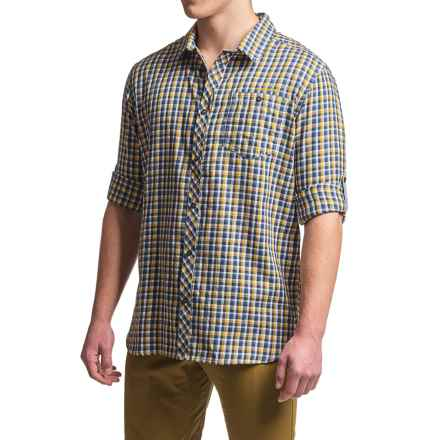 Craghoppers Claude Shirt - UPF 30+, Long Sleeve (For Men) in Dusk Blue Check - Closeouts