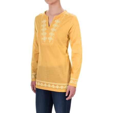 Craghoppers Clemence Tunic Shirt - Long Sleeve (For Women) in Light Summer Gold - Closeouts